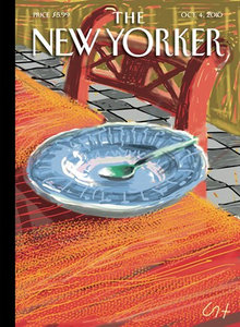 David Hockney's New Yorker Oct. 4 2010 cover illustration