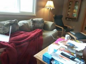 Jan Udlock's living room couch