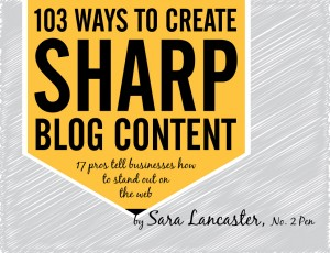 103 Ways to Create Sharp Blog Content