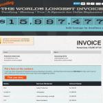 The World's Longest Invoice и защита прав фрилансера