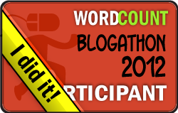 2012 WordCount Blogathon I Did It! badge