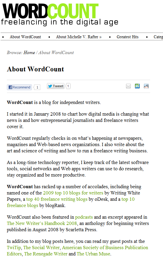 About WordCount page