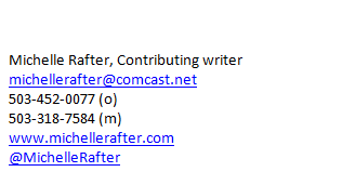 Michelle Rafter basic email signature