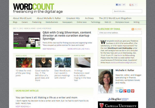 WordCount blog new design December 2012