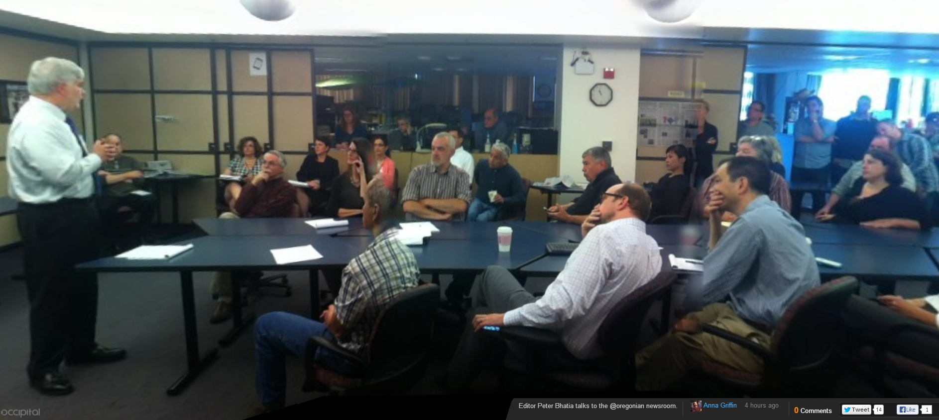 Oregonian newsroom June 20, 2013