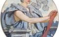 Wisdom, mural by Robert Lewis Reid, Library of Congress