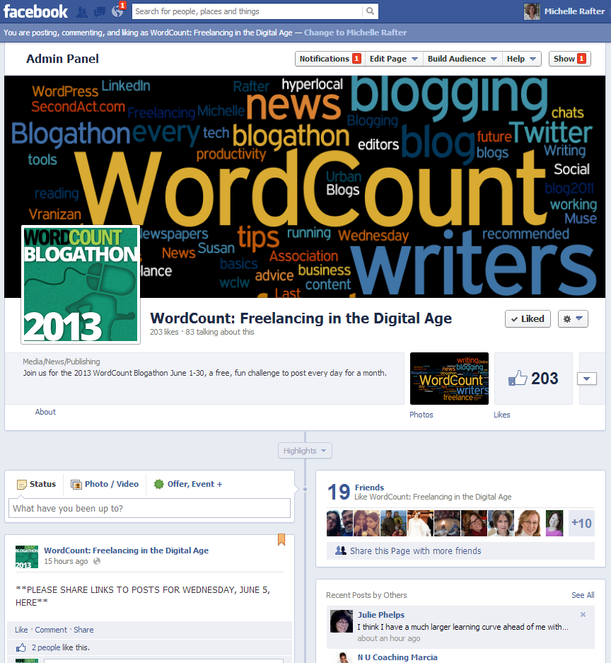 WordCount Facebook page