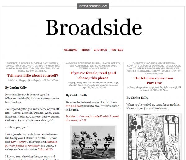 Broadside blog